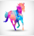 Abstract horse of geometric shapes vector image vector image