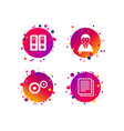 accounting workflow icons human documents vector image vector image