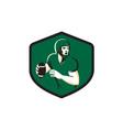 American Football Quarterback QB Shield Retro