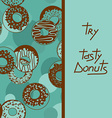 Background with tasty donuts vector image vector image