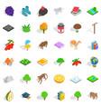 bird icons set isometric style vector image vector image
