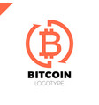 bitcoin exchange logotype letter b in circle vector image
