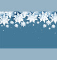 blue snowflakes card vector image