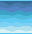 blue waves abstract sea flat design seamless vector image vector image