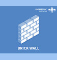 brick wall icon isometric template for web design vector image