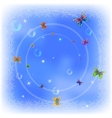 Butterflies on sky vector image