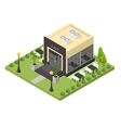 Cafe Building Isometric View vector image vector image