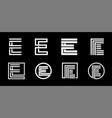 capital letter e modern set for monograms logos vector image vector image