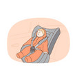car seat for toddler protection concept vector image