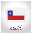 chile flag door plate with independence day vector image