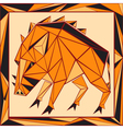 Chinese horoscope stylized stained glass pig vector image vector image