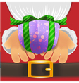 Christmas giftbox vector image vector image