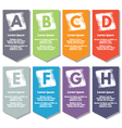 Collection of infographics elements vector image vector image