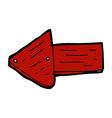 comic cartoon pointing arrow symbol vector image
