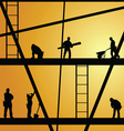 construction worker at work vector image vector image