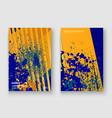 creative cover frame design paint splatter neon vector image vector image