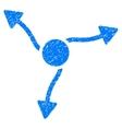 Curve Arrows Grainy Texture Icon vector image vector image