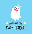 cute cartoon card with rabbit vector image vector image