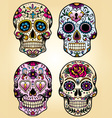 Day of the dead set vector image vector image