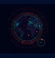 digital holographic earth globe sci-fi futuristic vector image