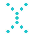 digital letter x display board round dot vector image vector image