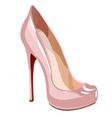 elegant pink shoe vector image