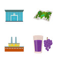 finance oil refinery and other web icon in vector image