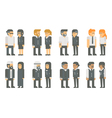 Flat design business worker set vector image vector image