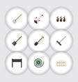 flat icon dacha set of barbecue grass-cutter vector image vector image