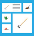 flat icon dacha set of hacksaw bailer tool and vector image vector image