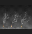 fog and smoke set isolated on transparent vector image