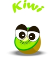 fresh kiwi and slice vector image