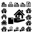 House insurance icons Set vector image vector image