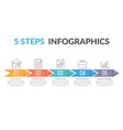 infographic template with arrows vector image vector image