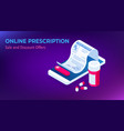 isometric online medical consultation health care vector image vector image