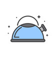 kettle line icon on white background for graphic vector image