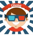 kids moviegoers vector image
