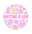 knitting crochet hand made banner vector image vector image