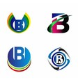 Letter B alphabet logo letter B icon set vector image
