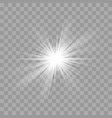 light rays flash sun star shine radiance effect vector image vector image