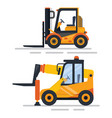 machinery used in working process constructing vector image