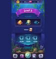 mahjong fish world - mobile format level field vector image vector image