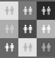 male and female sign grayscale version of vector image