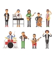 Musicians people flat vector image vector image