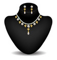 necklace on the dummy vector image vector image