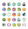 network and communication icons 1 vector image vector image