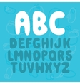 Nice Letters font set vector image vector image