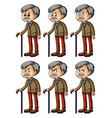 old man with different facial expressions vector image vector image