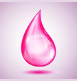 one big pink drop vector image vector image