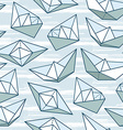 Origami ship pattern vector image vector image